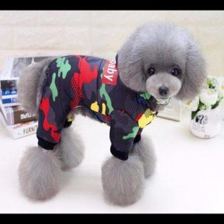 Combinezon DogBaby cu negru pentru catei